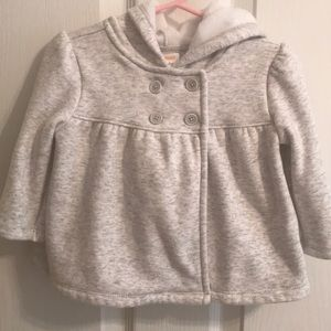 Light gray hooded sweater